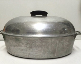 Vintage Household Institute Cooking Utensils Heavy Aluminum Roaster 50's