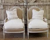 Antique Linen Chairs