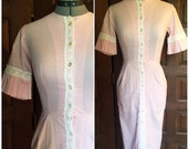 RESERVED XS Helen Whiting Pink Cotton and Lace Dress