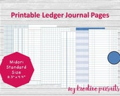 Printable Ledger Papers, ...