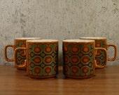 Vintage Mugs Hornsea England Bronte x 4