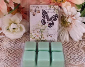 Butterfly Meadows Tarts, Soy Melts, soy tarts in Clam Shell, Tarts,  Wax Melts