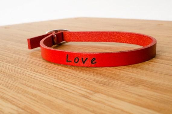 Love Skinny Adjustable Leather Bracelet - I Love You Soulmate