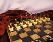 Bullet Shell Chess set- Caliber .223 -Painted black vs. polished brass