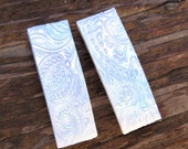 Polymer Clay Barrettes - Pair of 1.75 Inch - Faux Mother of Pearl