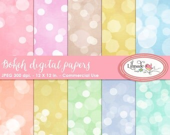 Bokeh digital papers, bokeh textures, bokeh papers, bokeh scrapbook papers for photography and scrapbooking, P 321