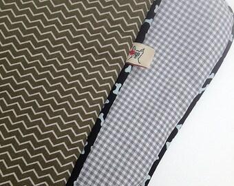 Dog Car Seat  Cover  - Tiny Chevron - Barking Dog Blanket