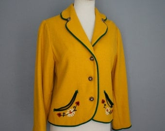 Vintage 50s 60s PETTI Glen Junior GOLDFINCH ALPS Blazer (s-m)