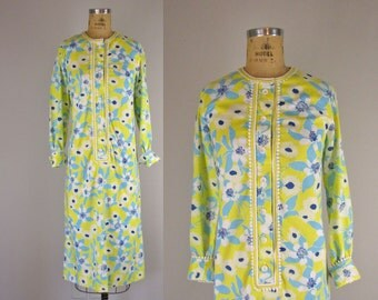 vintage 1970s Lilly Pultizer dress / 1970s Lilly shirtdress