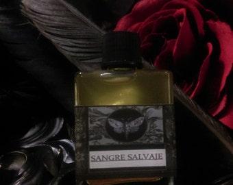 Sangre Salvaje Gypsy Natural Perfume Oil  1/2 oz Rose,Dragon's Blood,Amber,Champa,Elderberry,Cinnamon,Clove,Strawberry,Vanilla,Sandalwood