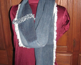 Denim Scarf Recycled blue jeans