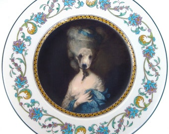 Marie Beartoinette - Altered Vintage Plate 9""