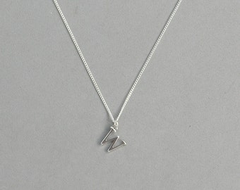 Silver Plated Initial W Necklace