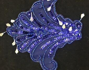 Blue Sequin Applique