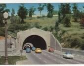 Figueroa Street Tunnels Cars Los Angeles CA 1950s postcard