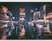 Times Square At Night New York City NYC NY chrome postcard