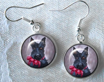 Custom Scottie Drop Earrings ~ From Your Photos ~ Scottish Terrier ~ Dog Earrings ~ Scottish Terrier