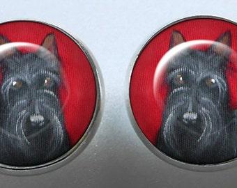 Scottish Terrier Earrings ~ Scottie Dog ~ Dog Lover Birthday ~ Gifts for Her ~ Scottie Dog Portrait ~ Dog Earrings
