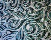 Fused Glass Black Aurora Borealis Textured Glass Plate Handmade
