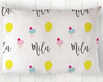 Personalized Pillow - Personalized Kids Pillow - Personalized Toddler Pillow - Toddler Pillowcase - Toddler Pillow Cover - Travel Pillow