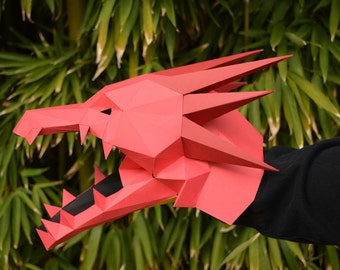 Make Your Own Dragon Hand Puppet with just Paper and Glue! Monster Puppet | Paper Puppet