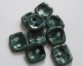 Green Dream Ceramic Buttons