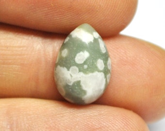 Naturally Hardened Serpentine Tear Drop Cabochon - 14.9 x 10.5 x 4.9 mm - 5.8 ct - 151006-60