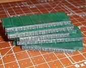 Vintage Metal Letterpress Printers Blocks Lot 25