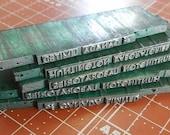Vintage Metal Letterpress Printers Blocks Lot 26