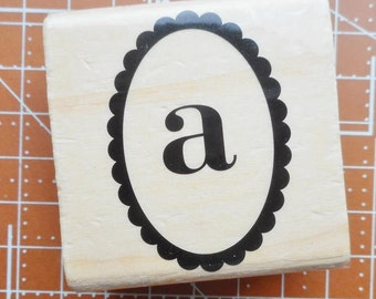 Lower Case A Rubber Stamp