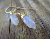 Rainbow Moonstone Gold Filled Earrings LOVE Attracting Stone