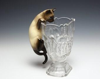 Large Siamese Cat Figurine - Hagen Renaker Designers Workshop Ceramic Animal