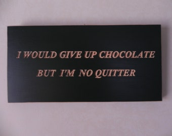 "Engraved wood sign- ""Chocolate"""