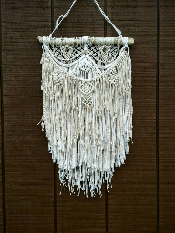 Sale Macrame Textured Wall Hanging Knotted Fringe Tapestry