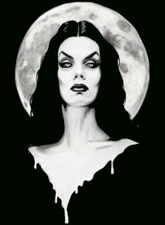 Vampira stretched canvas print