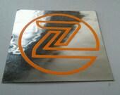 """Vintage Z-Flex Skateboard Sticker Dog Town Z-Boys 2.25"""" Zephyr Team Silver"""
