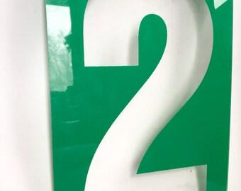 Vintage Number Sign