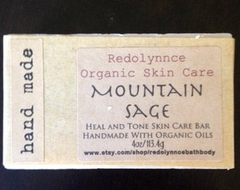 Mountain Sage Cold Processed Handmade Organic Soap