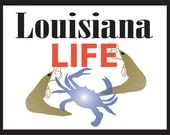 Louisiana Life With Shrimp and Crab - Digital Download