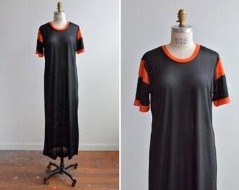 SALE / Vintage 1990s MESH maxi dress