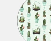 Mouse Pad Mousepad Gift Womens Cute Desk Accessories Cactus Mouse Pad Succulent Mouse Pad Mint Green Office Decor Office Supplies