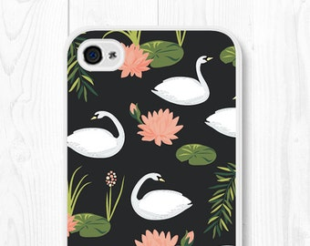 iPhone 6s Case Floral iPhone 6 Case Flower iPhone Case Gift for Her Samsung Galaxy S5 Case Floral iPhone 6 Plus Case iPhone 5s Case Swan