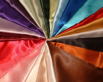 "Satin Baby Blanket Your choice of 2 Satin Colors,  approx 33""' by 40"" New Custom Made to Order"