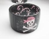 Pirate Bracelet - Pirate Jewelry - Pirate Princess - Skull Bracelet - Pirate Skull Jewelry - Pirate Gift - Skull and Crossbones Jewelry