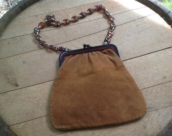 VINTAGE Saks Fifth Avenue Purse // Leather // Dainty // Handbag