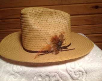 Vintage // Cowboy Hat // Feather Band // Western