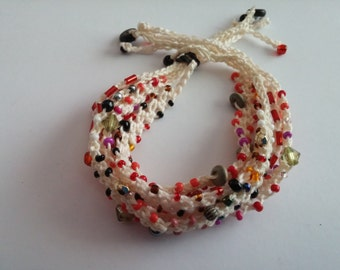 Beaded Crochet Love Knots Bracelet - Group # 16