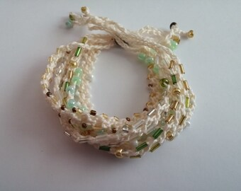 Beaded Crochet Love Knots Bracelet - Group # 20