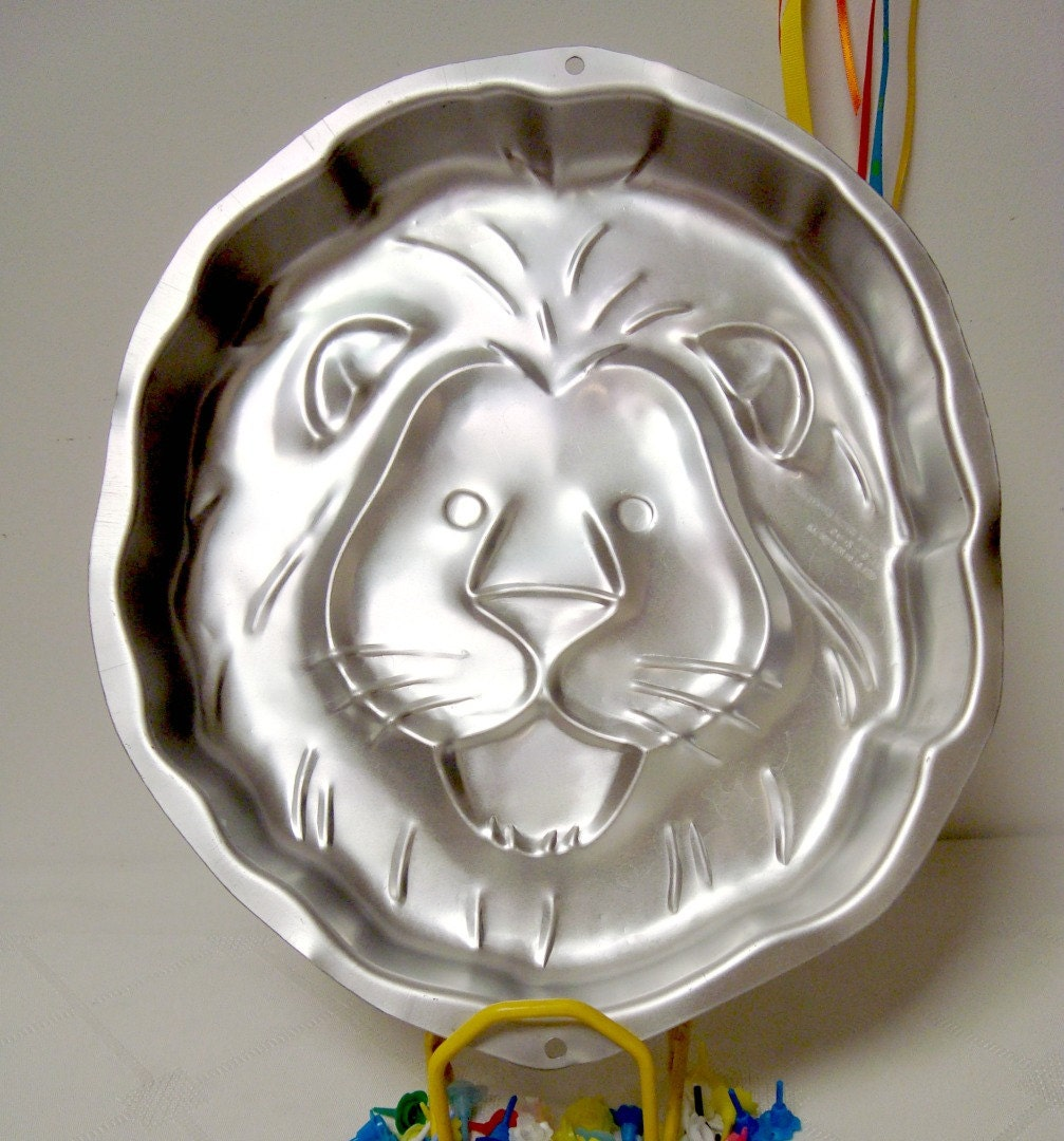 Lion Face Cake Pan Wilton Jungle Cat 2105 2095 From 1994