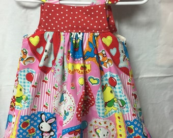 Little girls bunny dress easter dress summer sundress